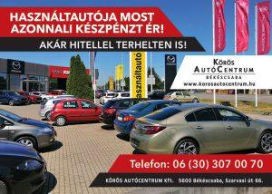 AZONNALI készpénzes használtautó felvásárlás a Körös Autócentrumnál!